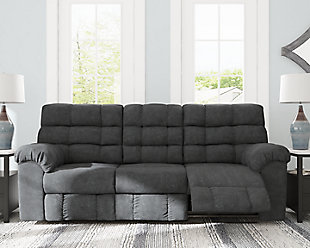 Wilhurst Reclining Sofa with Drop Down Table, , rollover