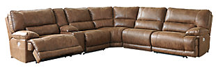 Thurles 6-Piece Reclining Sectional with Power, , large