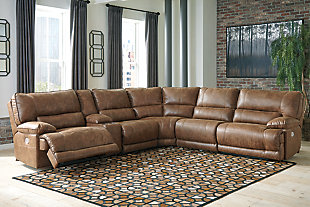 Thurles 6-Piece Reclining Sectional with Power, , rollover