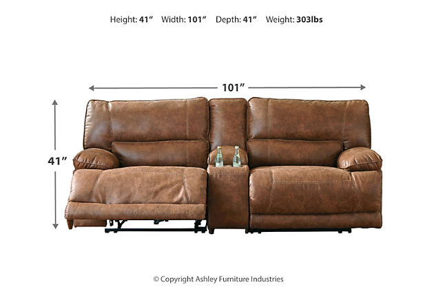Thurles 3-Piece Power Reclining Sectional, , large