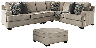 Bovarian 3-Piece Sectional with Ottoman, , large
