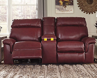 Duvic Power Reclining Loveseat with Console, , rollover