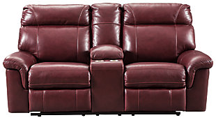 Duvic Power Reclining Loveseat with Console, , large