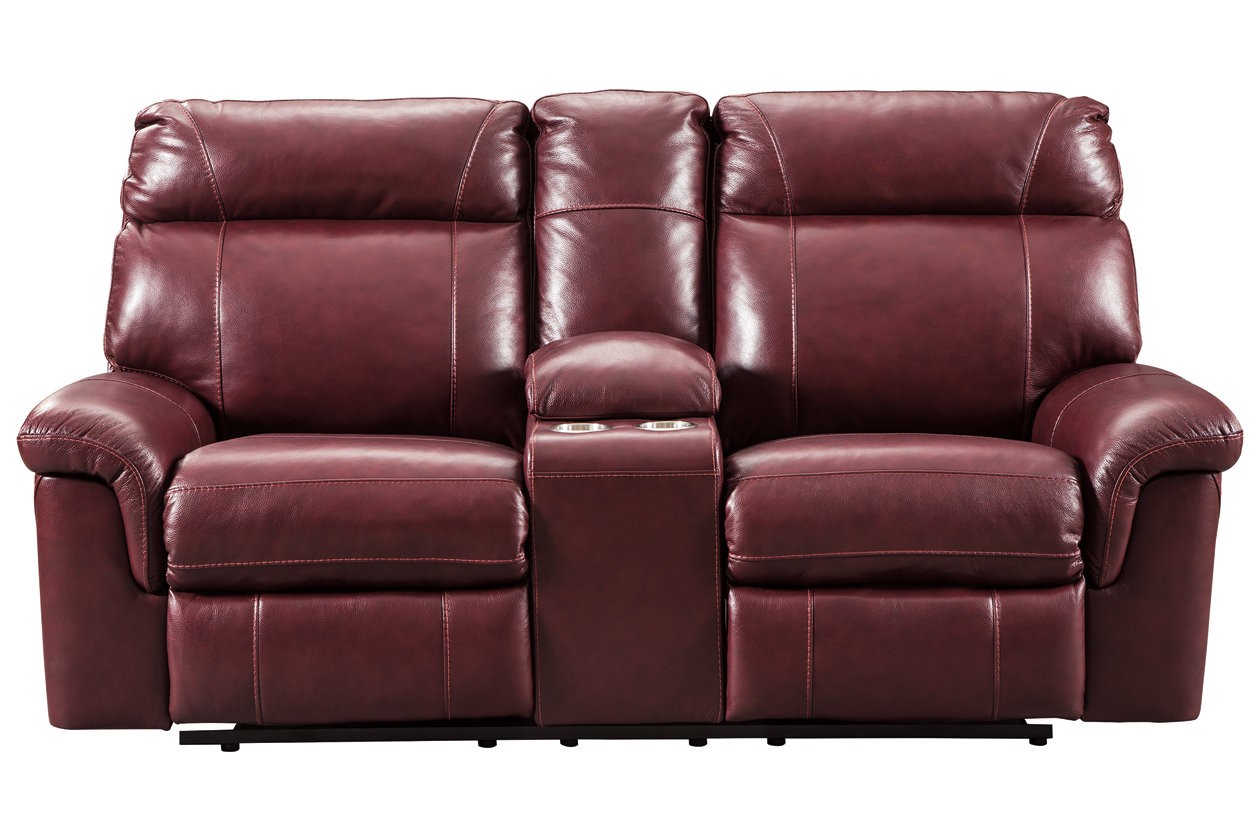 Cool Duvic Power Reclining Loveseat With Console Ashley Spiritservingveterans Wood Chair Design Ideas Spiritservingveteransorg