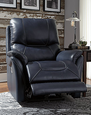 Stolpen Power Recliner, Blue, rollover