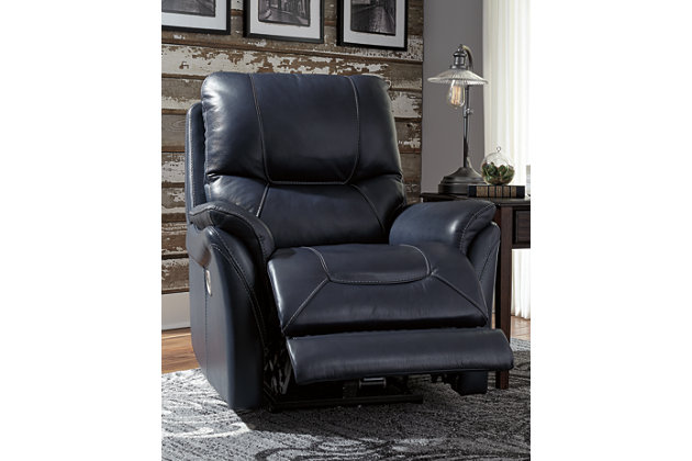 Stolpen Power Recliner, Blue, large