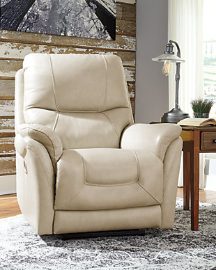 Stolpen Power Recliner, Cream, large