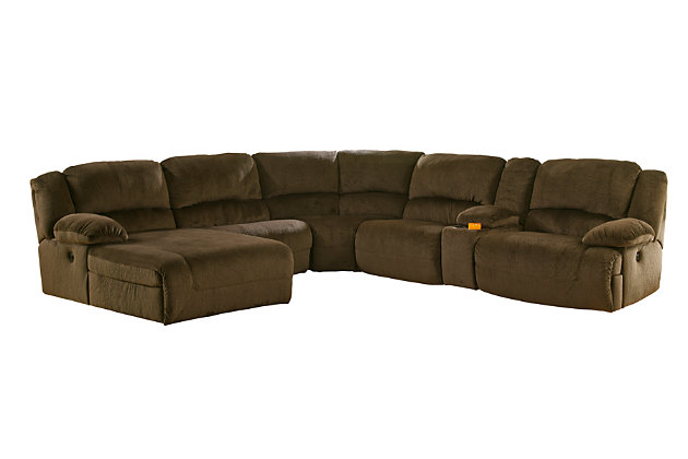 Toletta 6-Piece Sectional Non-Power, Chocolate, large