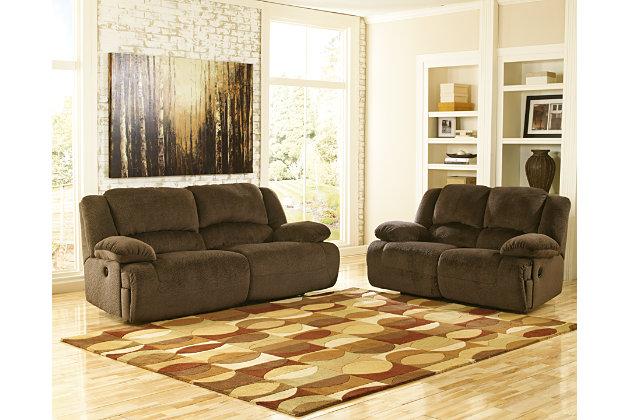 Toletta Power Reclining Sofa by Ashley HomeStore, Brown, ...