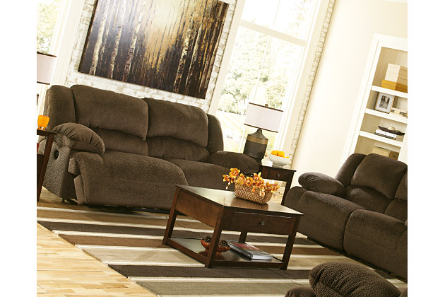 Overstuffed Pillow Armrests Provide Plush Comfort on these Power Recliner Couches and Loveseats  sc 1 st  Ashley Furniture HomeStore & Toletta Reclining Sofa | Ashley Furniture HomeStore islam-shia.org
