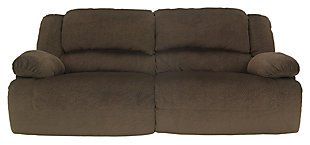 Toletta Reclining Sofa, Chocolate, large