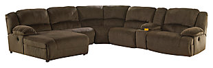 Toletta 6-Piece Sectional with Power, Chocolate, large