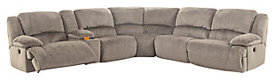 Toletta 6-Piece Reclining Sectional Non-Power, , large