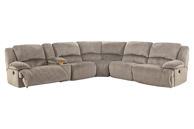 Toletta 6 Piece Reclining Sectional Non Power Ashley