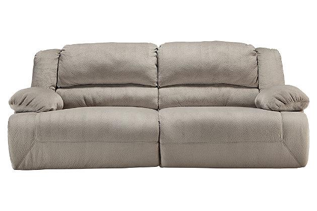 Toletta Power Reclining Sofa, Granite, large