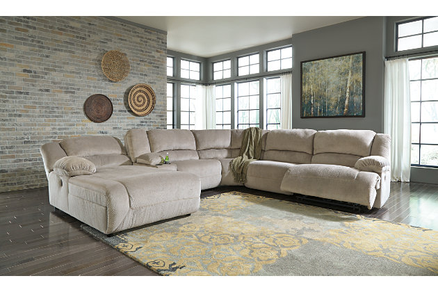 Toletta 6-Piece Sectional Non-Power, Granite, large