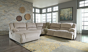 Toletta 5-Piece Reclining Sectional with Chaise and Power, , rollover