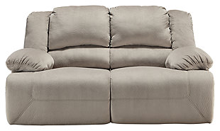 Toletta Reclining Loveseat, Granite, large