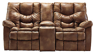 Darshmore Power Glider Reclining Loveseat with Console, , large