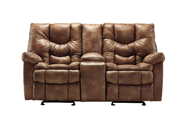 Darshmore Power Glider Reclining Loveseat With Console Ashley Furniture Homestore