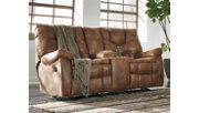 Darshmore Power Glider Reclining Loveseat with Console, , rollover