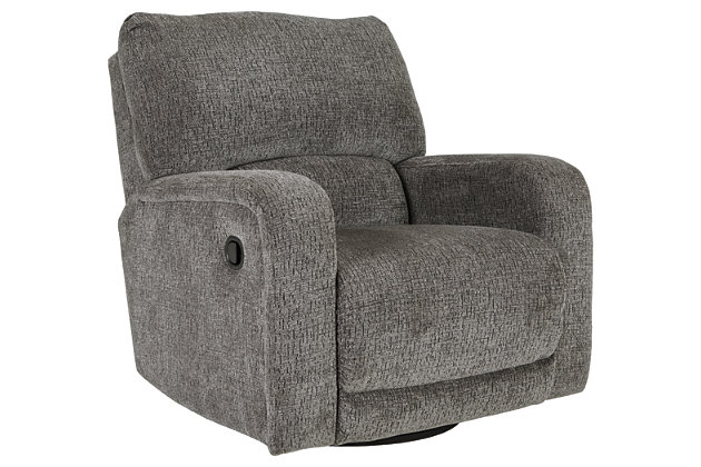 Wittlich Swivel Glider Recliner, Slate, large