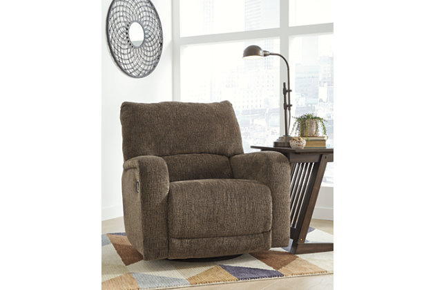 Wittlich Swivel Glider Recliner, Umber, large