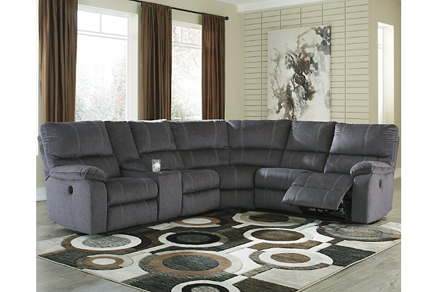 Urbino 3 Piece Power Reclining Sectional Ashley Furniture Homestore