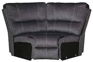Urbino 3-Piece Power Reclining Sectional, Charcoal, large