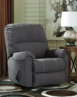 Urbino Recliner, Charcoal, large