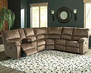 Urbino 3-Piece Power Reclining Sectional, Mocha, rollover