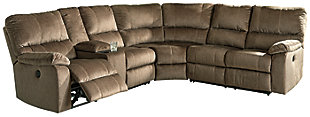 Urbino 3-Piece Power Reclining Sectional, Mocha, large