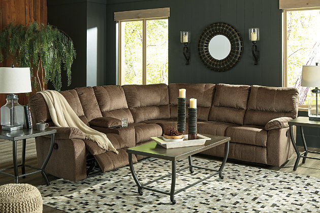 Urbino 3-Piece Reclining Sectional, , large