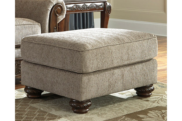 Cecilyn Ottoman by Ashley HomeStore, Brown, Polyester (100 %)