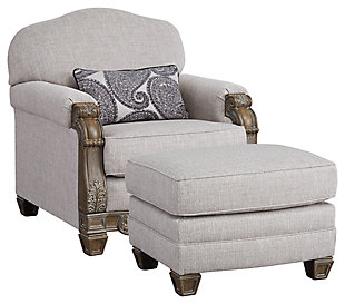 Sylewood Chair and Ottoman, , large