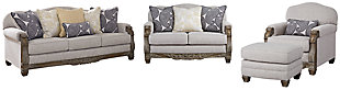 Sylewood Sofa, Loveseat, Chair and Ottoman, , large