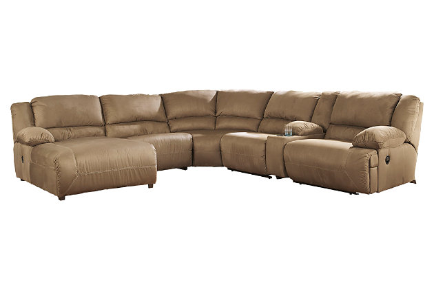 Tan leather sectional couch with chaise lounge for your living room design  sc 1 st  Ashley Furniture HomeStore : sectional with chaise lounge - Sectionals, Sofas & Couches