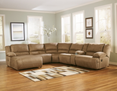 Hogan 6 Piece Reclining Sectional With Chaise Ashley Furniture Homestore