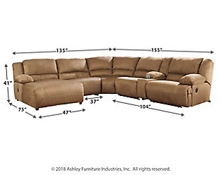 Hogan 6 Piece Reclining Sectional With