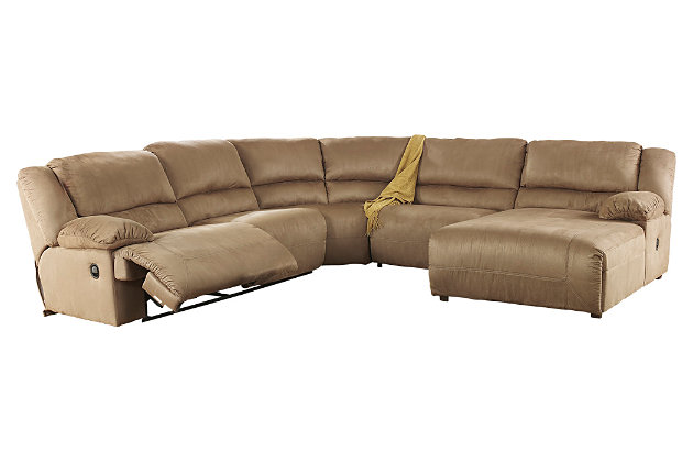Hogan 5-Piece Reclining Sectional with Chaise, , large