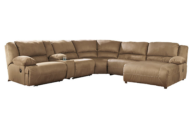 Hogan 6-Piece Reclining Sectional with Chaise, , large