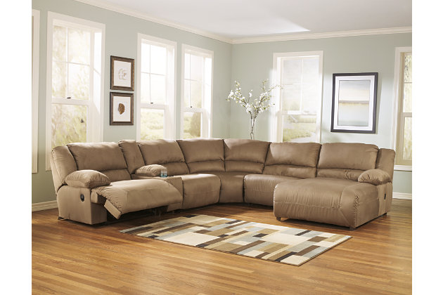 6 Piece Reclining Sectional With Chaise