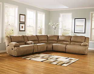 Hogan 6-Piece Reclining Sectional with Chaise, , rollover