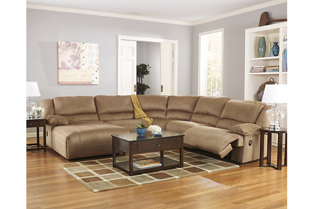 Hogan 5 Piece Reclining Sectional With Chaise Large