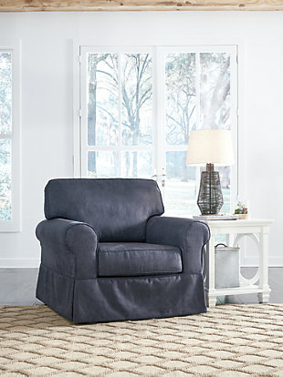 Alano Chair and Ottoman, , large