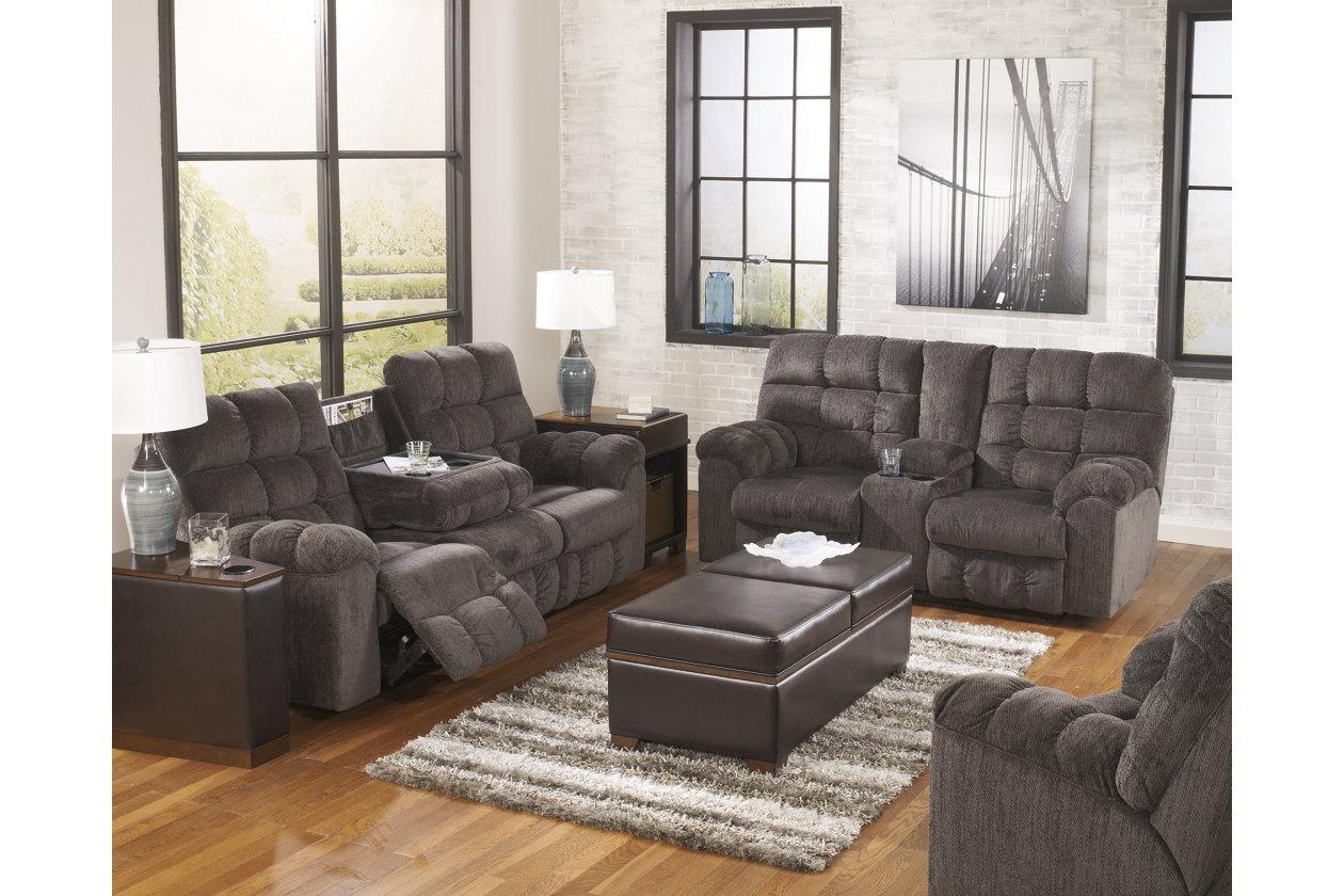 Acieona Reclining Sofa With Drop Down Table Ashley Furniture Homestore