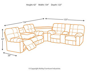 Acieona Reclining Sofa With Drop Down Table Ashley Furniture Homestore