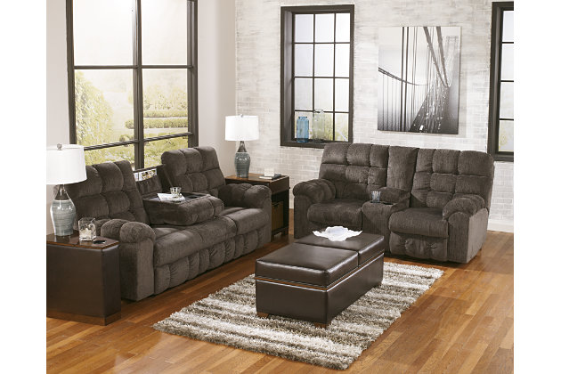 Sectional Sofa With Drop Down Table Acieona Reclining Sofa With Drop Down Table Ashley