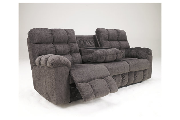 Acieona Reclining Sofa With Drop Down Table Large