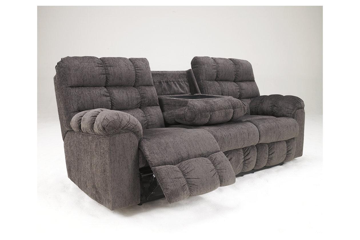 Prime Acieona Reclining Sofa With Drop Down Table Ashley Machost Co Dining Chair Design Ideas Machostcouk